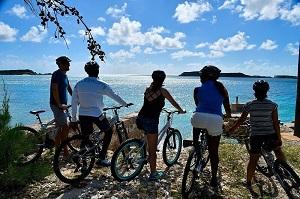 Biking in South Caicos